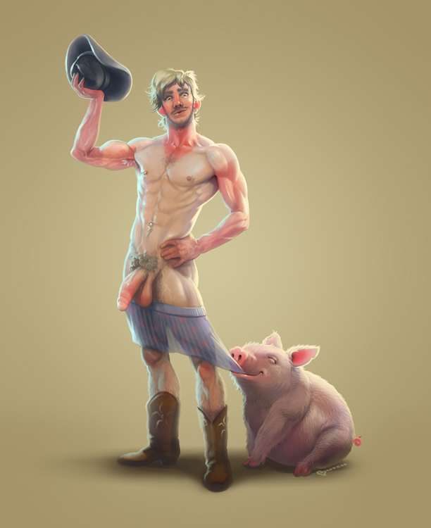 """Butch McLogic's take on Aloisi Haelgor's character """"Ricky the Farmhand"""""""